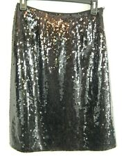 INC Greenwich Black Silk Sequin Skirt Womens Size 4 NWT Save Huge Club Cocktail