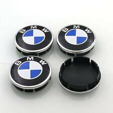4x 60mm Nabendeckel BMW Nabenkappen - 4 Stück Felgendeckel Chrom Emblem