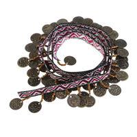 1yds Copper Tassel Lace Trim BOHO Ribbon Fringe Drop Sewing Clothes Curtains