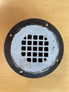 """Oatey 42311, 3"""" Round Black PVC Shower Drain w/ Round Stainless Steel Cover"""