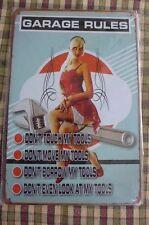 Garage Rules Metal Sign Painted Poster Garage Superhero Wall Decor Shop Art *