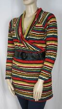Polyester Long Sleeve Tunic Striped Tops for Women