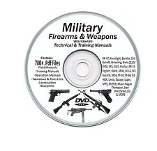 Military Manuals 700+  Rifle Pistol Machine gun Weapons +Bonus Books  DVD