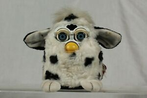 Vintage Furby 1998 Electronic Interactive Pet with Tags Dalmatian Blue Eyes RARE