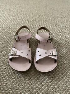Saltwater Sandals Sweetheart SizeUs10 Shiny pink