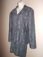Briggs NWT Womens Size M Jacket and Size 10 Mini Straight Skirt Set Snake Print