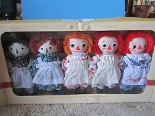 NEW Dakin Limited Ed Sig Collection 85th Raggedy Ann Through the Years~~5 DOLLS