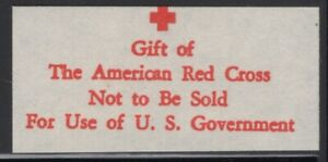 Free Tax Revenue Gift CIGARETTE The American Red Cross Label VF