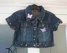 Adams girl customised cropped denim jacket, age 7yrs