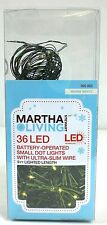 Martha Stewart Living 36 Battery Operated Small Led Dot Lights Warm White 9 Feet