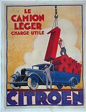 Affiche originale CITROEN 1935