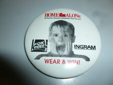 Home Alone Pin Back Promotional 1991 Video Store Button Ingram Macaulay Culkin