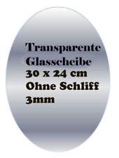 OVALE TRANSPARENT Vitre Transparent Transparent 24 x 30 cm sans broyer 3mm