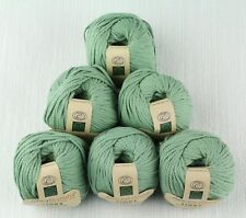 Fibra Natura Links 100% Organic Cotton Austin Green Yarn -- 6 Skeins + Free Gift