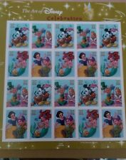 ** OFFICIAL ART OF DISNEY CELEBRATION - US POSTAL STAMP PANE - 20 X 37 CENTS **