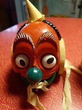Vintage RARE Cinderella Manufacturing Co. Clown Pull Toy Weird Bizarre Demon