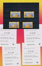Bund-ATM Restwertsatz mit allen 4 R-Quittungen ** Michel Nr. 3.3 Sielaff Pfg.-LT