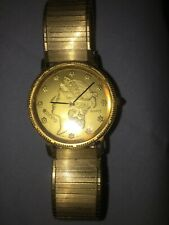 Vintage Dufonte Coin Watch With Bulova Band