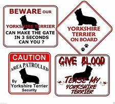 Yorkshire Terrier Warning Signs & Plaques