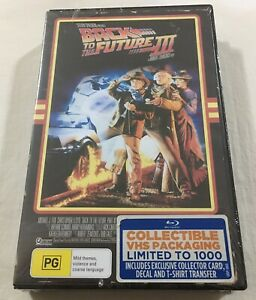 Back to the Future Part III 3 (1990) - VHS Retro Case Blu-Ray Region Free | New