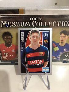 Topps Champions League 2015/16 Lionel Messi FC Barcelona Sticker #317
