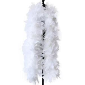 "White Turkey Flat Boa 72"" 6 FT for Masquerade Costume Bachelorette Parties -1 Pc"