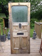 EDWARDIAN FRONT DOOR WOOD RECLAIMED EXTERNAL GLAZED PERIOD OLD ANTIQUE 1930s