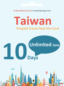 10 days Taiwan Travel data SIM card 4G Unlimited Download / Data