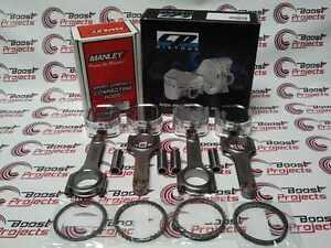 CP Pistons SC7400 Manley H Rods 14024-4 For Subaru WRX EJ205 EJ207 8.5:1 92.5mm