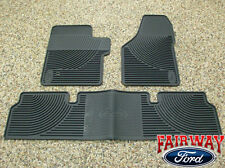 06 07 08 09 10 Super Duty F250 F350 OEM Ford Rubber Floor Mat 3-pc Super Cab