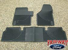 06 07 08 09 10 Super Duty F250 F350 OEM Ford Rubber Floor Mat 3-pc Super Cab