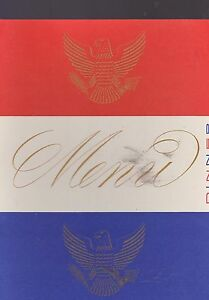 AUG 24 1954 S.S. UNITED STATES ship menu