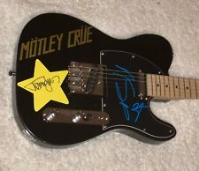 MOTLEY CRUE X3 SIGNED AUTOGRAPHED ELECTRIC GUITAR NIKKI SIXX TOMMY LEE W/PROOF