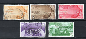 ITALY 1935 ITALIAN AIR AEREA COMPLETE SET OF USED STAMPS