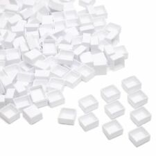 150x White Plastic Empty Watercolor Half Pans for Painting, 0.6 x 0.7 x 0.32 in.