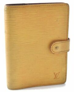 Authentic Louis Vuitton Epi Agenda PM Day Planner Cover Yellow LV A6069