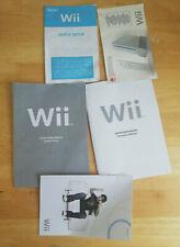 Nintendo Wii console pack paperwork manuals set