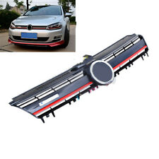 ABS Red R Style Front Center Grille Mesh Cover For Volkswagen Golf MK7 2014-17