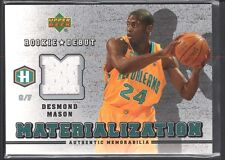 DESMOND MASON 2006/07 UPPER DECK ROOKIE DEBUT MATERIALIZATION JERSEY SP $12