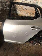 Seat Ibiza Mk5 2009-2015 Near Side Rear Door Complete in SILVER (PASSENGER SIDE)