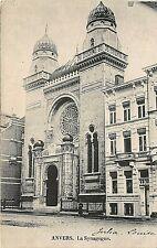 Postcard Belgium Antwerp The Synagogue Circa 1911. . Judaica
