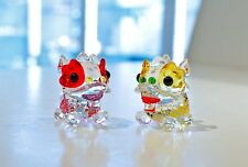 Swarovski Chinese Dancing Lions Pair of Wedding Luck 5302563 Brand New In Box