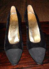 Salvatore Ferragamo Black Velvet Women's Shoes - Made in Italy