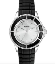 Versus Versace Unisex Black Silver Stainless Steel Watch 0386