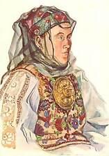 Saxon folk types from Transylvania Romania folklore costume Zagar Mures country