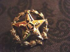 Vintage Eastern Star Lapel Membership Pin Enamel/Gold/Silver