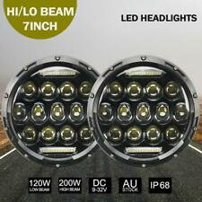 """2Pcs 7""""inch 200W Round LED Replacement Headlights for Land Rover Defender 90&110"""