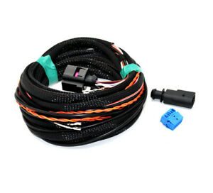 Reverse backup rear Camera retrofit Cable wiring For vw Passat B8 Golf Mk7 7.5