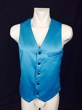 Tiffany Blue Satin Vest. Men's. Medium. Perfect Condition.