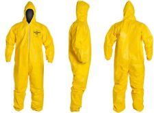 Dupont Tychem Tyvek QC QC127 Chemical Hazmat Suit XXX-LARGE YELLOW NEW  3XL